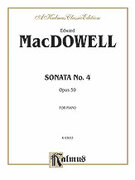 Cover icon of Sonata No. 4, Op. 59 (COMPLETE) sheet music for piano solo by Edward MacDowell, classical score, intermediate