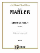 Cover icon of Symphony No. 4, in G Major (COMPLETE) sheet music for piano four hands by Gustav Mahler
