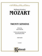 Cover icon of Twenty Sonatas (COMPLETE) sheet music for piano solo by Wolfgang Amadeus Mozart