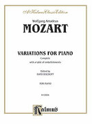 Cover icon of Variations, Complete (COMPLETE) sheet music for piano solo by Wolfgang Amadeus Mozart