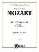 Cover icon of Twenty Sonatas, Volume I (COMPLETE) sheet music for violin and piano by Wolfgang Amadeus Mozart