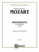 Cover icon of Divertimento in E flat Major, K. 563 (COMPLETE) sheet music for string trio by Wolfgang Amadeus Mozart