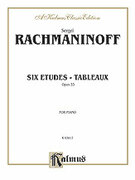 Cover icon of Etudes Tableaux, Op. 33 (COMPLETE) sheet music for piano solo by Serjeij Rachmaninoff and Serjeij Rachmaninoff, classical score, intermediate