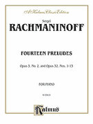Cover icon of Fourteen Preludes (COMPLETE) sheet music for piano solo by Serjeij Rachmaninoff and Serjeij Rachmaninoff, classical score, intermediate