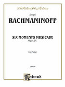 Cover icon of Moments Musicaux, Op. 16 (COMPLETE) sheet music for piano solo by Serjeij Rachmaninoff and Serjeij Rachmaninoff