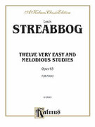 Cover icon of Twelve Very Easy and Melodious Studies, Op. 63 (COMPLETE) sheet music for piano solo by Louis Streabbog, classical score, intermediate skill level