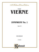Cover icon of Symphony No. 1, Op. 14 (COMPLETE) sheet music for organ solo by Louis Vierne
