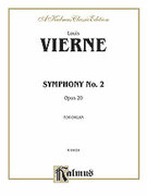 Cover icon of Symphony No. 2, Op. 20 (COMPLETE) sheet music for organ solo by Louis Vierne, classical score, easy/intermediate
