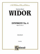 Cover icon of Symphony No. 4 in F Minor, Op. 13 (COMPLETE) sheet music for organ solo by Charles Marie Widor and Charles Marie Widor, classical score, easy/intermediate skill level
