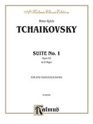 Cover icon of Suite No. 1 in D Major, Op. 43 (COMPLETE) sheet music for piano four hands by Pyotr Ilyich Tchaikovsky and Pyotr Ilyich Tchaikovsky