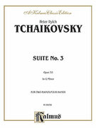 Cover icon of Suite No. 3 in G Major, Op. 55 (COMPLETE) sheet music for piano four hands by Pyotr Ilyich Tchaikovsky and Pyotr Ilyich Tchaikovsky, classical score, easy/intermediate piano four hands