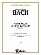 Cover icon of Arias from Church Cantatas (COMPLETE) sheet music for voice and piano by Johann Sebastian Bach