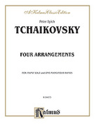 Cover icon of Arrangements from Dargomyzhsky, won Weber, Rubinstein (COMPLETE) sheet music for piano four hands by Pyotr Ilyich Tchaikovsky