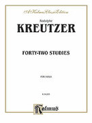Cover icon of Forty-two Studies (COMPLETE) sheet music for viola by Rudolf Kreutzer and Rudolf Kreutzer, classical score, intermediate