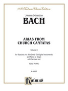 Cover icon of Soprano and Alto Arias, Volume II (COMPLETE) sheet music for voice and piano by Johann Sebastian Bach, classical score, intermediate