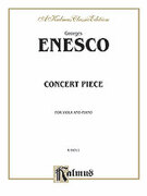 Cover icon of Concert Piece (COMPLETE) sheet music for viola and piano by Georges Enesco, classical score, intermediate viola