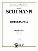 Cover icon of Three Romances, Op. 94 (COMPLETE) sheet music for viola and piano by Robert Schumann, classical score, intermediate skill level