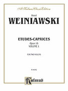 Cover icon of Etudes-Caprices, Op. 18 (COMPLETE) sheet music for two violins by Henry Wieniawski