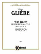 Cover icon of Four Pieces (COMPLETE) sheet music for double-bass and piano by Reinhold Gliere and Reinhold Gliere
