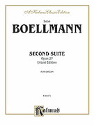 Cover icon of Second Suite, Op. 27 (COMPLETE) sheet music for organ solo by Leon Boellmann, classical score, easy/intermediate