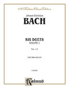 Cover icon of Six Duets, Volume I (COMPLETE) sheet music for two violins by Johann Christian Bach