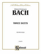 Cover icon of Three Duets for Two Violas (COMPLETE) sheet music for two violas by Wilhelm Friedemann Bach