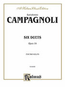 Cover icon of Six Duets, Op. 14 (COMPLETE) sheet music for two violins by Bartolomeo Campagnoli