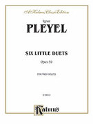 Cover icon of Six Easy Duets, Op. 59 (COMPLETE) sheet music for two violins by Ignaz Joseph Pleyel and Ignaz Joseph Pleyel