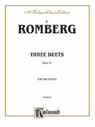 Cover icon of Three Duets, Op. 18 (COMPLETE) sheet music for two violins by Andreas Jakob Romberg