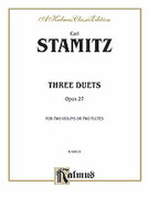 Cover icon of Three Duets, Op. 27 (COMPLETE) sheet music for two violins (or two flutes) by Johann Stamitz