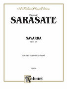 Cover icon of Navarra, Op. 33 (COMPLETE) sheet music for two violins and piano by Pablo de Sarasate