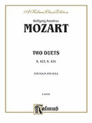 Cover icon of Two Duets, K. 423, K. 424 (COMPLETE) sheet music for violin and viola by Wolfgang Amadeus Mozart, classical score, intermediate duet