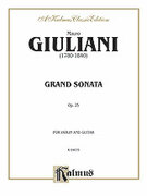 Cover icon of Grand Sonata for Violin and Guitar, Op. 25 (COMPLETE) sheet music for violin and guitar by Mauro Giuliani