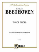 Cover icon of Three Duets (COMPLETE) sheet music for violin (oboe or flute) and cello (or bassoon) by Ludwig van Beethoven