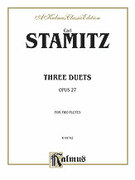 Cover icon of Three Duets, Op. 27 (COMPLETE) sheet music for two flutes by Karl Philip Stamitz