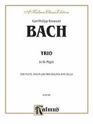 Cover icon of Trio in B flat (COMPLETE) sheet music for violin, flute (or 2nd violin) and cello by Carl Philip Emanuel Bach and Carl Philip Emanuel Bach, classical score, intermediate