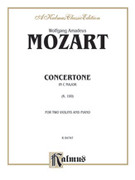 Cover icon of Concertone in C Major (COMPLETE) sheet music for two violins and piano by Wolfgang Amadeus Mozart