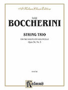 Cover icon of String Trio, Op. 54, No. 3 (COMPLETE) sheet music for two violins and cello by Luigi Boccherini, classical score, intermediate two
