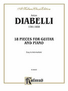 Cover icon of 18 Pieces for Guitar and Piano (COMPLETE) sheet music for guitar and piano by Antonio Diabelli and Antonio Diabelli