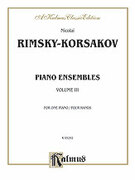 Cover icon of Piano Duets, Volume III (COMPLETE) sheet music for piano four hands by Nikolai Rimsky-Korsakov and Nikolai Rimsky-Korsakov