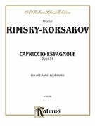 Cover icon of Capriccio Espagnole Piano Duet (COMPLETE) sheet music for piano four hands by Nikolai Rimsky-Korsakov and Nikolai Rimsky-Korsakov