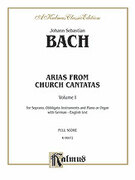 Cover icon of Soprano Arias from Church Cantatas, Volume I (COMPLETE) sheet music for voice and piano by Johann Sebastian Bach, classical score, intermediate skill level