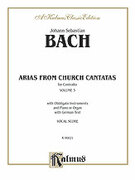 Cover icon of Contralto Arias, Volume III (COMPLETE) sheet music for voice and piano by Johann Sebastian Bach, classical score, intermediate