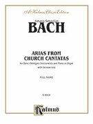 Cover icon of 12 Bass Arias from Church Cantatas (COMPLETE) sheet music for voice and piano by Johann Sebastian Bach
