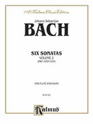 Cover icon of Six Sonatas, Volume II (COMPLETE) sheet music for flute and piano by Johann Sebastian Bach, classical score, intermediate skill level