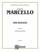 Cover icon of Two Sonatas in G and C (COMPLETE) sheet music for cello and piano by Benedetto Marcello