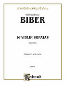 Cover icon of 16 Violin Sonatas, Volume II (COMPLETE) sheet music for violin and piano by Heinrich Biber