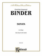 Cover icon of Sonata in G Major (COMPLETE) sheet music for violin and piano by Christlieb Siegmund Binder