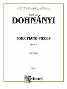 Cover icon of Four Piano Pieces, Op. 2 (COMPLETE) sheet music for piano solo by Ernst von Dohnanyi