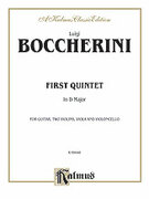 Cover icon of First Quintet in D Major, for Two Violins, Viola, Cello and Guitar (COMPLETE) sheet music for two violins, viola, cello and guitar by Luigi Boccherini, classical score, intermediate
